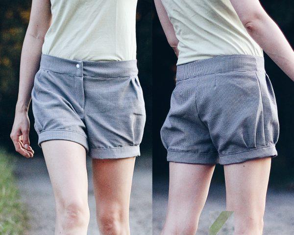 chino Hose shorts nähen schnittmuster