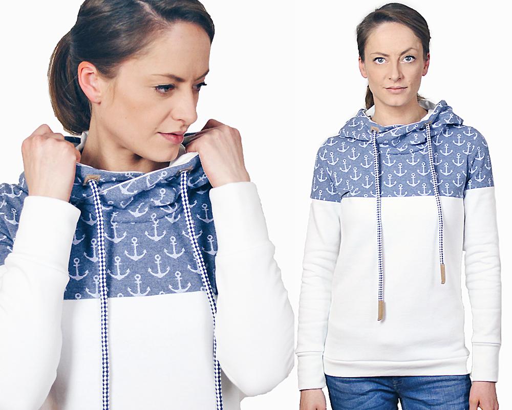 Nähanleitungen und Schnittmuster für einen Pullover